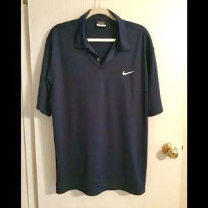 Nike Navy blue men's DRI -fit  golf shirt size L